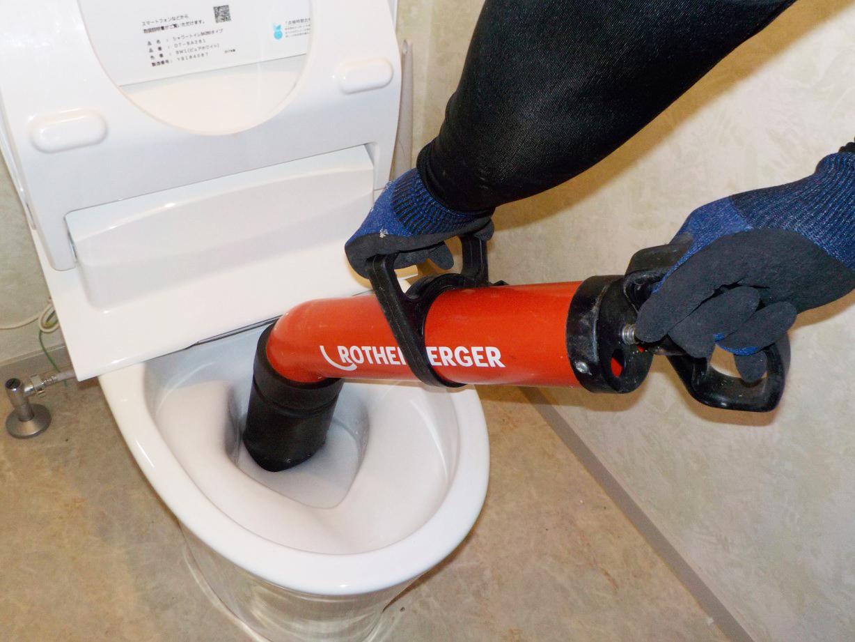 写真:トイレ詰まり
